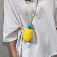 Ananas Mini Handtasche