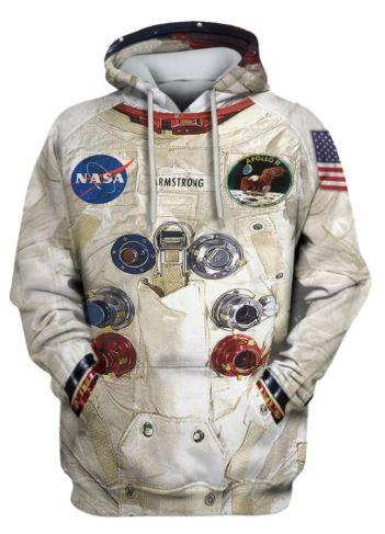 Astronauten-Mode Hoodie