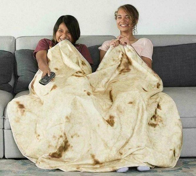 Burrito-Decke Sofa
