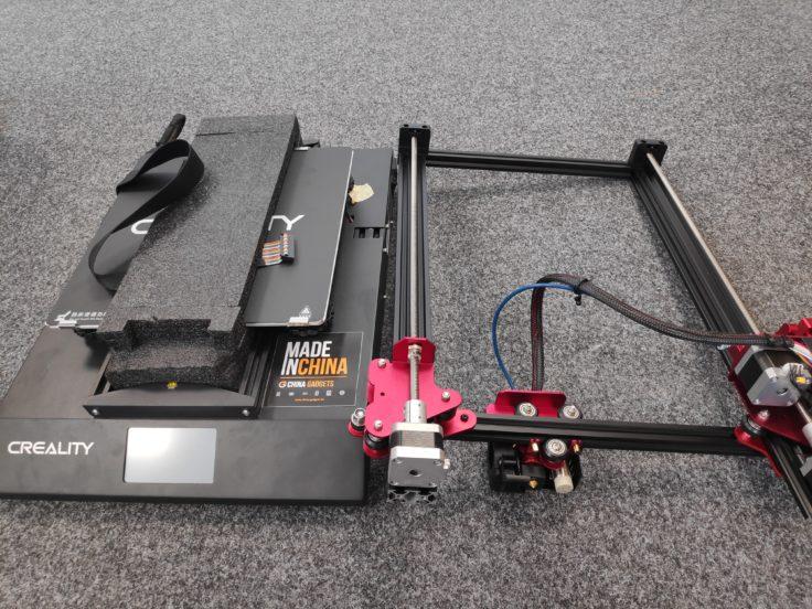 Die Einzelteile vom CR-10S Pro im Überblick
