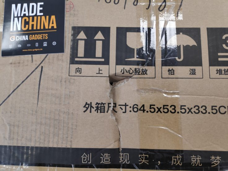CR-10S Pro: Schaden an der Verpackung
