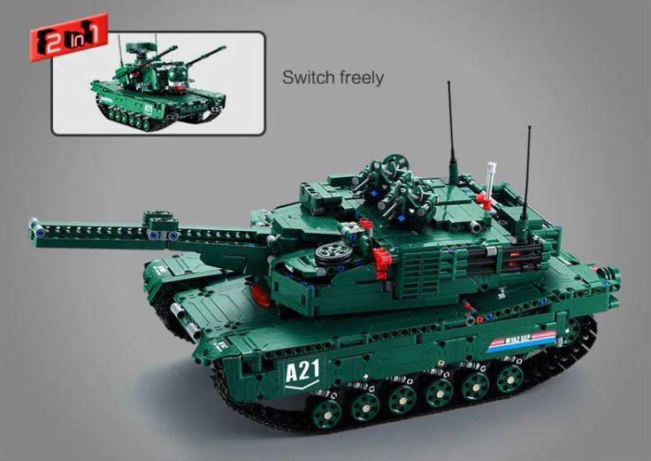 CaDA Kampfpanzer Klemmbausteine 2 in 1