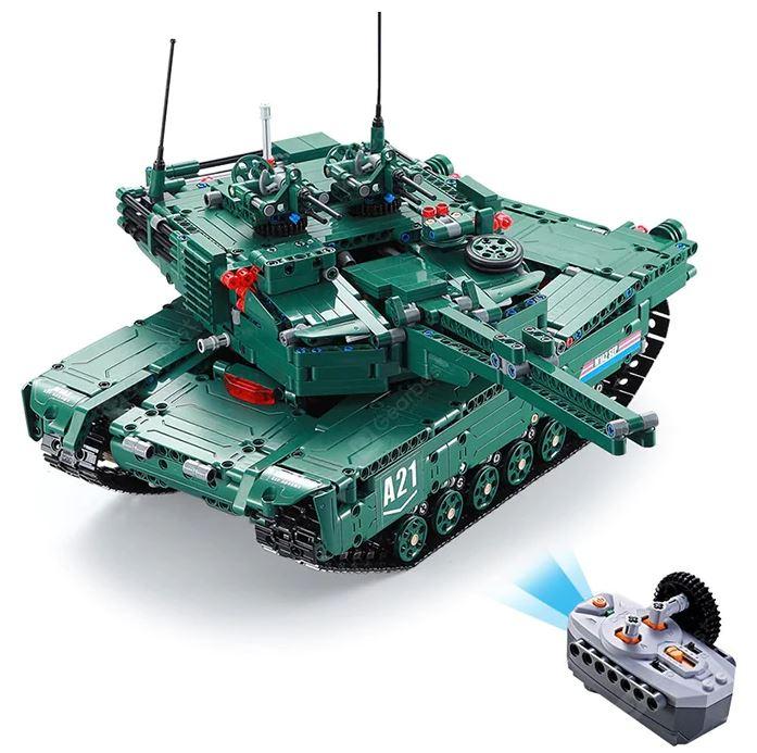 CaDA Kampfpanzer Klemmbausteine mit Fernsteuerung