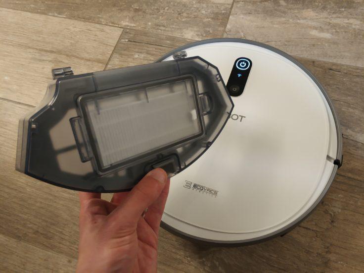 Ecovacs Deebot 710 Saugroboter Staubkammer Maße
