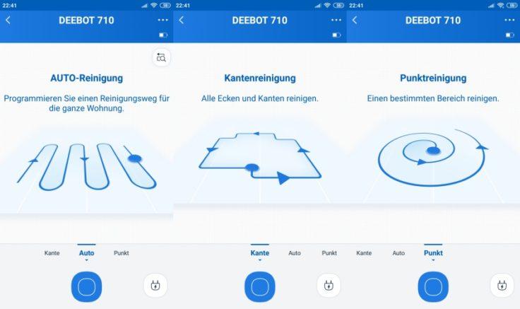 Ecovacs Home App Steuerung Saugmodi