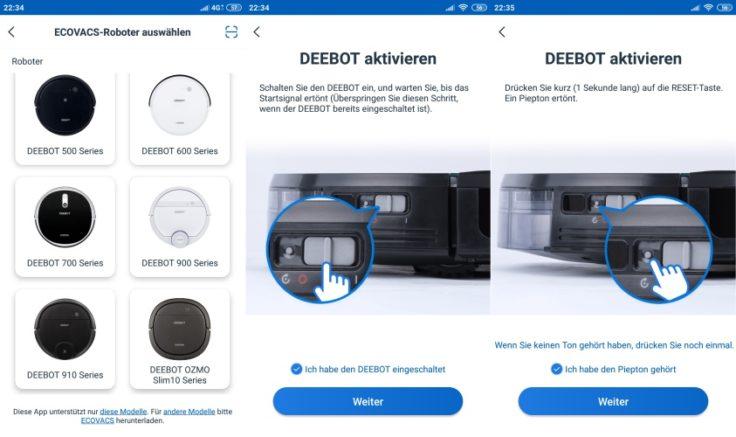 Ecovacs Home App Verbindung