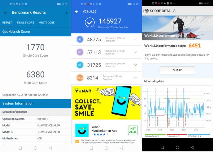 Huawei Nova 4 Benchmark Screenshot