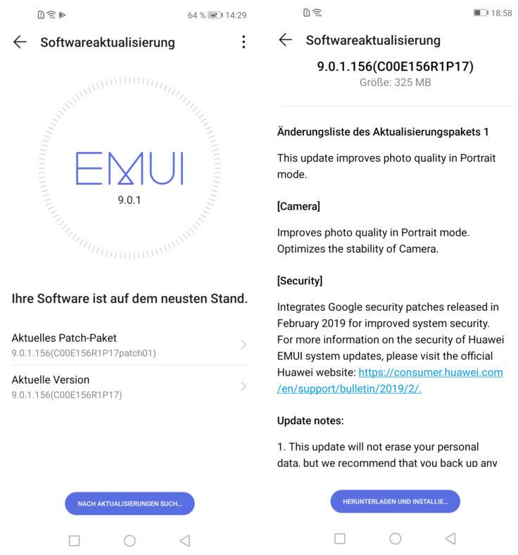Huawei Nova 4 EMUI Betriebssystem