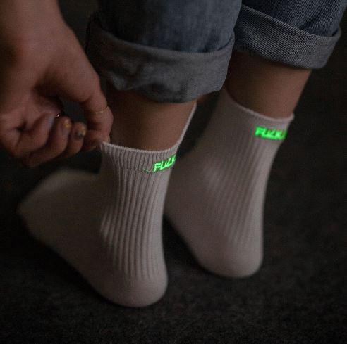 Leuchtende Socken