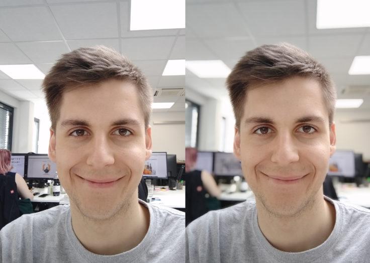 Redmi 7 Testfoto Frontkamera Portrait Vergleich