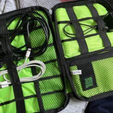 Reiseorganizer in Benutzung
