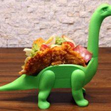 Taco-Halterungen Dinosaurier