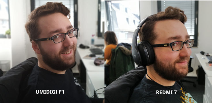 UMIDIGI F1 Testfoto Hauptkamera Portrait Vergleich