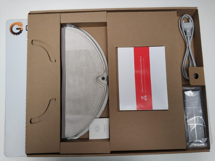 Xiaomi RoboRock S6 Saugroboter Verpackung Einzelteile