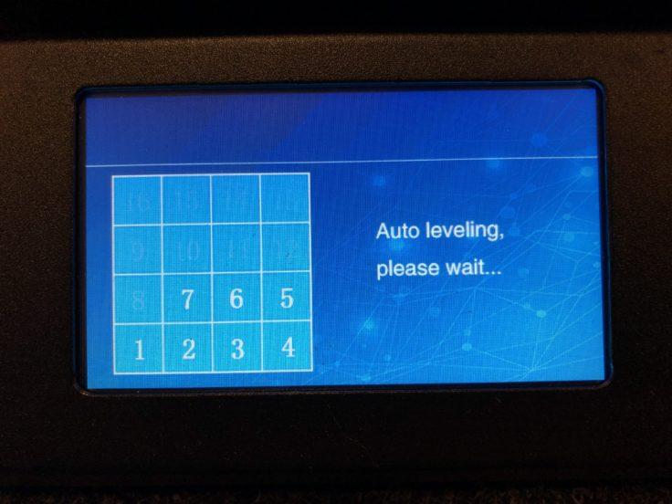 Autoleveling: 4x4-Raster wird erstellt