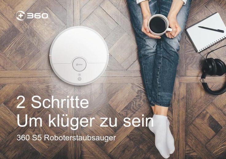 360 S5 Saugroboter Werbung klüger sein