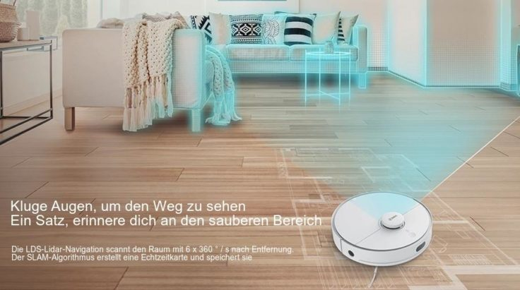 360 S5 Saugroboter Werbung kluge Augen