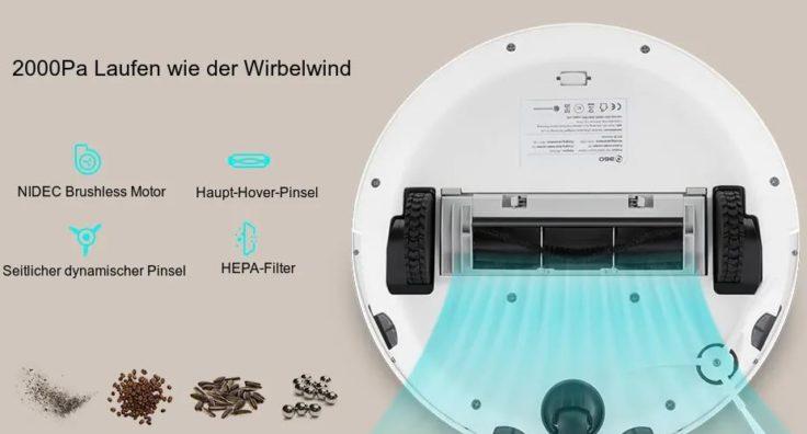 360 S5 Saugroboter Werbung Laufen wie Wirbelwind