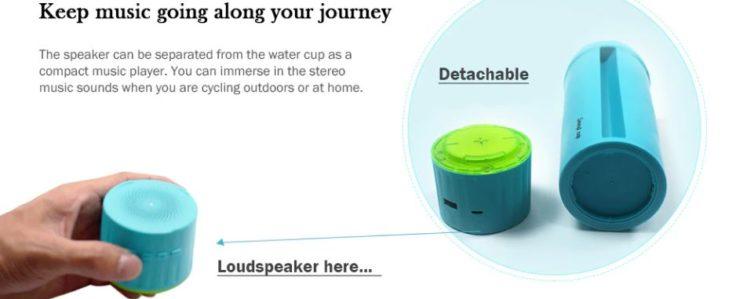 5-in-1-Wasserflasche-Lautsprecher