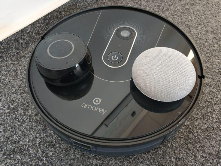 Amarey A900 Saugroboter Alexa- Google-Assistant Sprachsteuerung