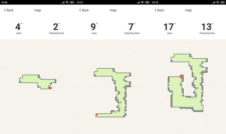 Amarey A900 Saugroboter App Mapping