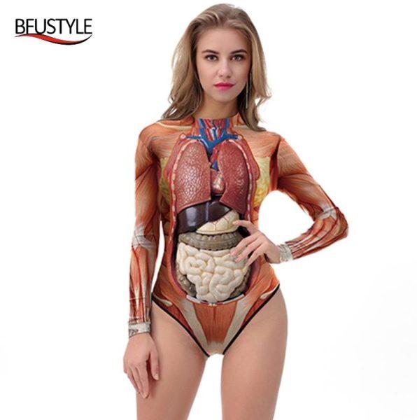 Anatomie Körper Badeanzug