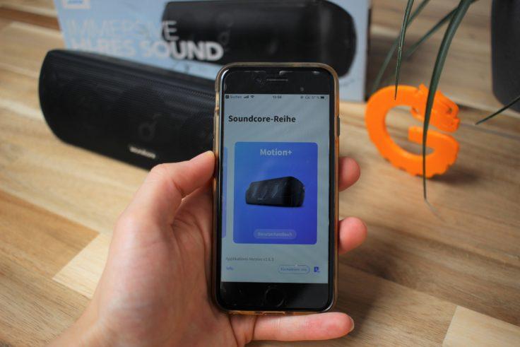 Anker Soundcore Motion+ App-Steuerung