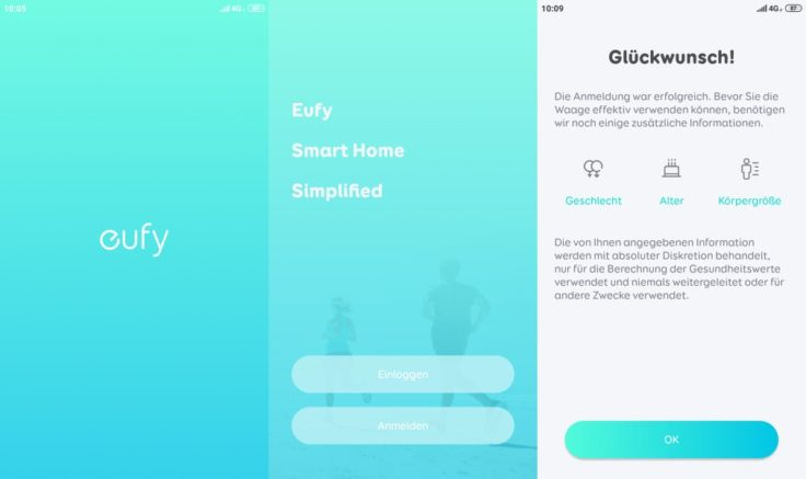 Anker eufy Smart Scale P1 Personenwaage App eufylife Anmeldung