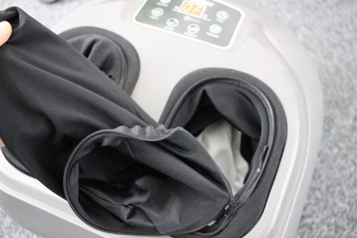 Arealer Fußmassagegerät Reißverschluss