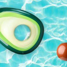 Avocado-Luftmatratze