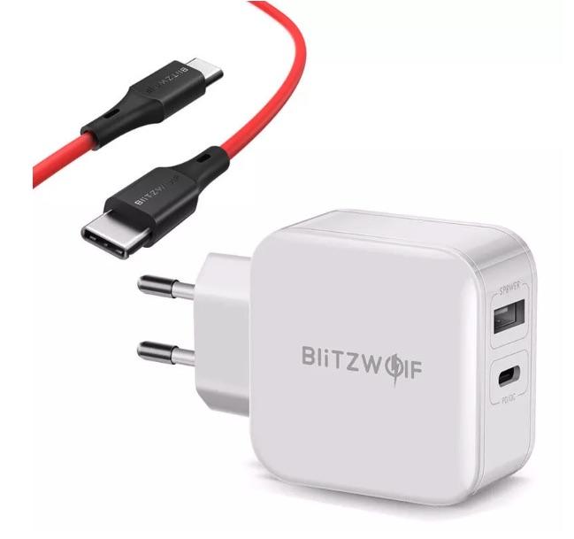 Blitzwolf USB-C Charger mit Kabel