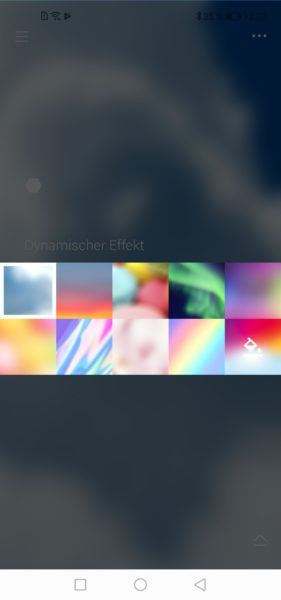 Cololight LED-Lichter: Auswahl der Effekte in der App