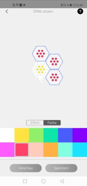 Cololight LED-Lichter: Effekteinstellung in der App