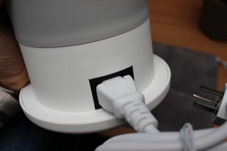 Deerma faltbarer Wasserkocher Anschluss mit Kaltgerät-Kabel