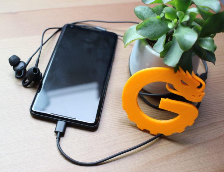 Huawei ANC Earphones 3 an Handy angeschlossen.