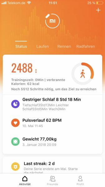 Huami Amazfit Cor 2 Mi Fit App