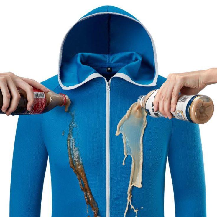 Hydrophobe Jacke in Blau