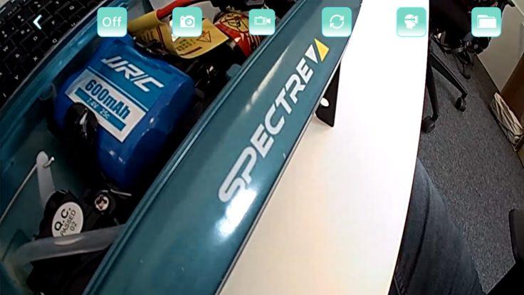 JJRC TST App Screenshot Kameraansicht