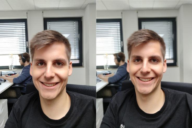 Lenovo Z6 Pro Testaufnahme Frontkamera Portrait Vergleich