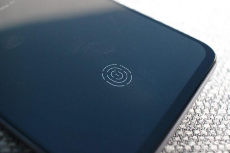 Meizu 16S Fingerabdrucksensor
