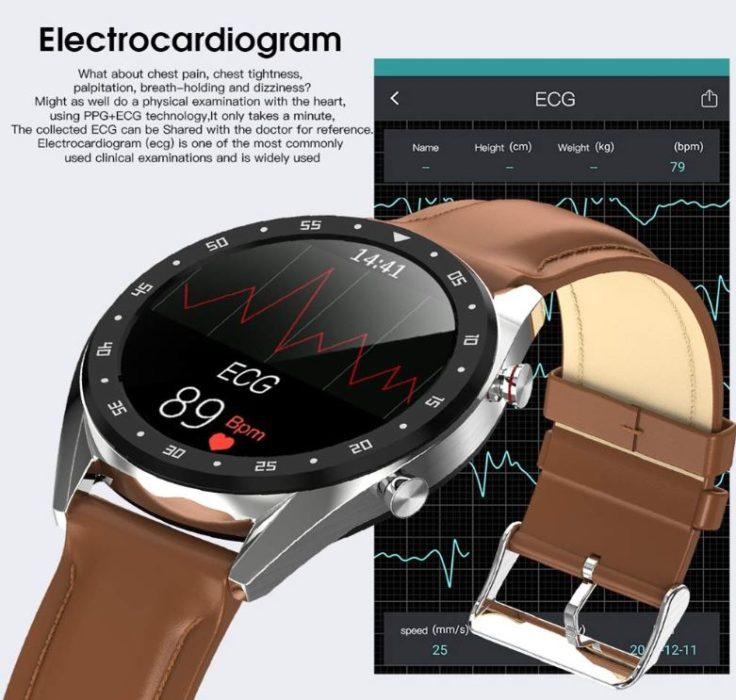 Microwear L7 Smartwatch: EKG