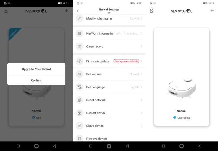 Narwal Robotics Saugroboter App Firmware Updates Upgrade