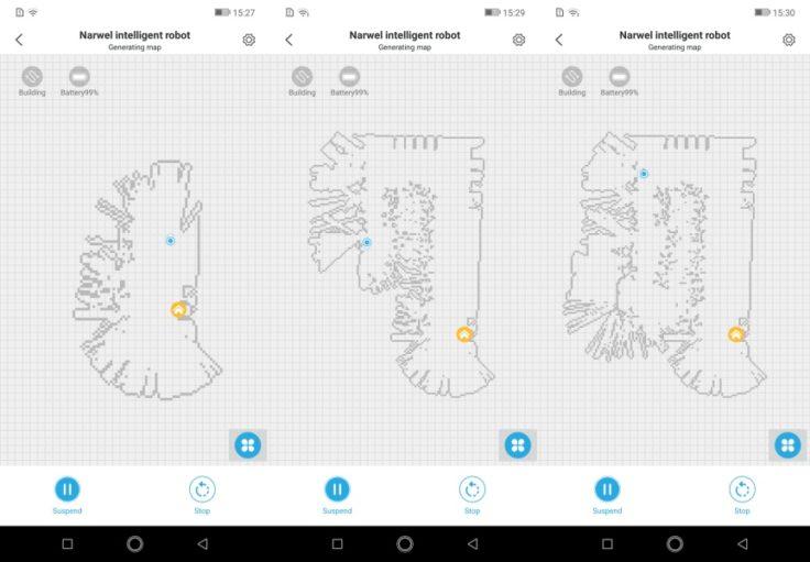 Narwal Robotics Saugroboter App Mapping