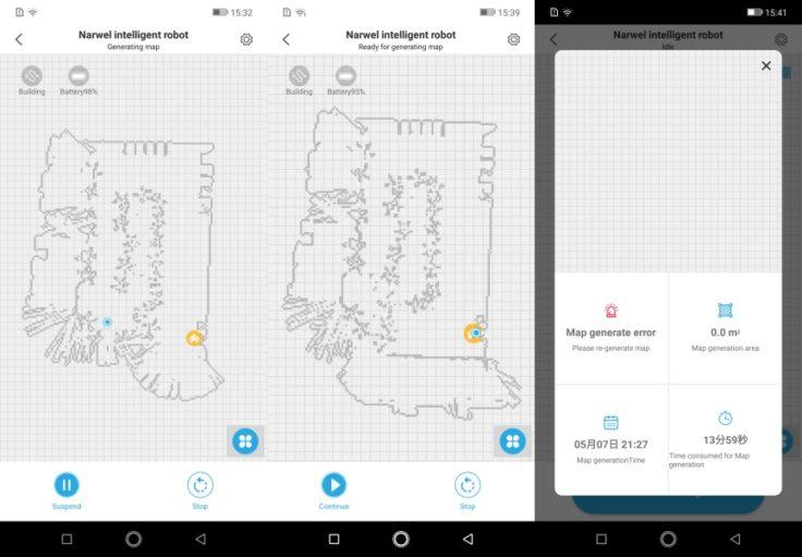 Narwal Robotics Saugroboter App Mapping Karte