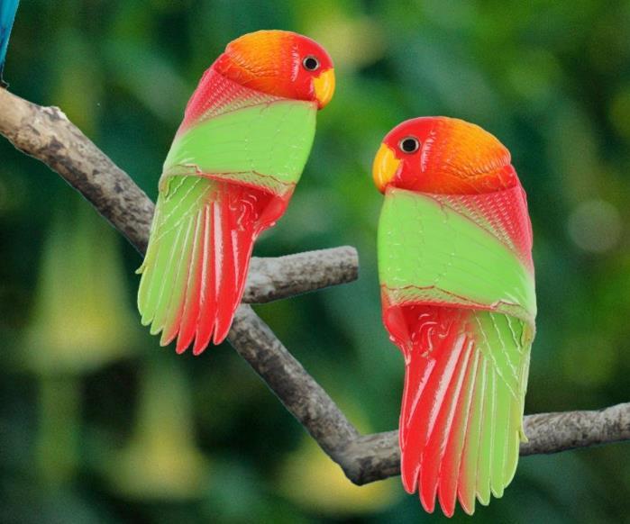 Papagei-Hausschlappen Werbung