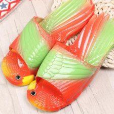 Papagei-Hausschuhe Design