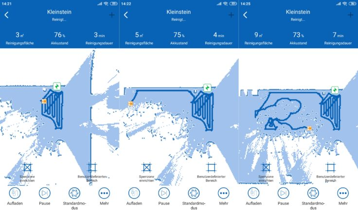 Proscenic D550 Saugroboter App Mapping