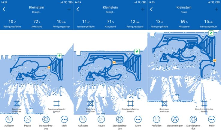Proscenic D550 Saugroboter App Mapping Karte