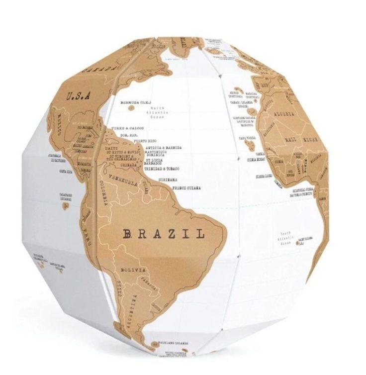 Rubbel Globus fertig aufgebaut
