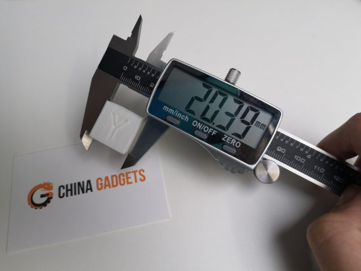 Tevo Flash 3D-Drucker Calibration Cube: X-Seite